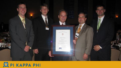 Beta Omicron chapter alumnus inducted into Pi Kappa Phi Fraternity Hall of Fame