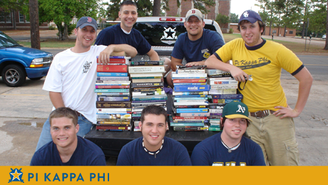 Pi Kappa Phi donates used books to NSU art department