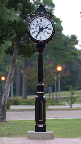 Pi Kappa Phi Clock commemorates chapter's 50 year anniversary