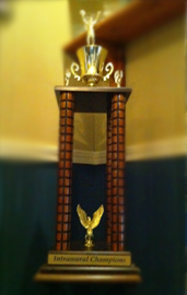 Page Image- Pi Kappa Phi Fraternity intramural trophy
