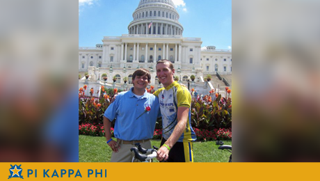 NSU Pi Kapps participate in cross-country cycling trek to raise disability awareness