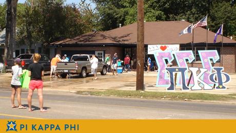 Pi Kappa Phi, Sigma Sigma Sigma sponsor benefit carwash