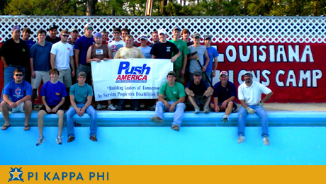 Pi Kappa Phi, Push America transforms Louisiana Lion's Camp
