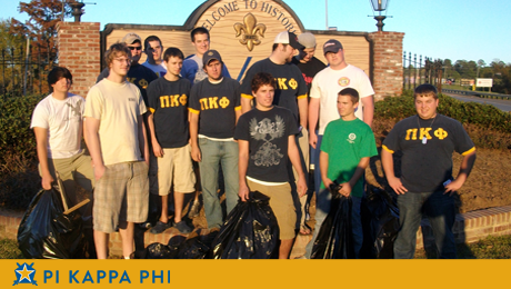 Pi Kapps adopt Natchitoches street for beautification, trash pick-up