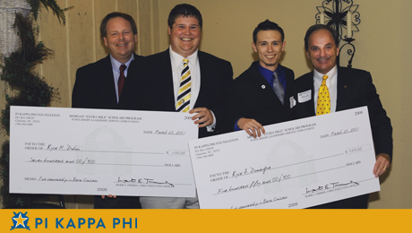 "Pi Kapps leading in academics, leadership, employment awarded ""Extra Mile"" scholarship (2009)"
