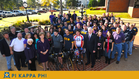 NSU fraternity, sorority honor friend by Cycling for Sharon