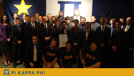 Beta Omicron helps establish chapter at rival university