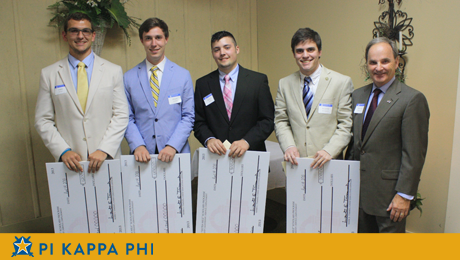 "Four Pi Kappa Phi members named ""Extra Mile Scholars;"" awarded $3,800 in scholarships"