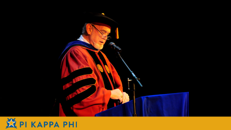 Beta Omicron Chapter alumnus delivers commencement address at NC college