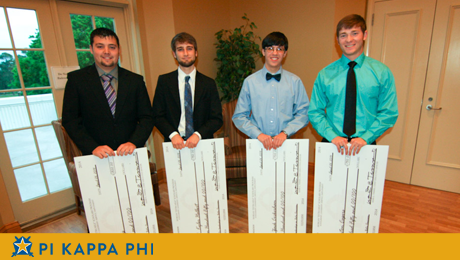 Pi Kappa Phi 'Extra Mile' scholars awarded $3,000 in scholarships