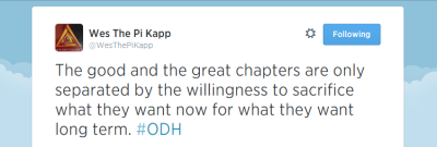 NSU alumnus inspires Pi Kapps one tweet at a time (Tweet)