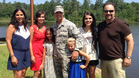 Senior Airman Silverio and his family.