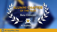 Beta Omicron again named Pi Kappa Phi's 'Alumni Chapter of the Year'