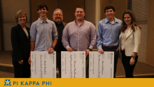 Three Pi Kappa Phi members awarded $2,500 for going 'extra mile' at NSU