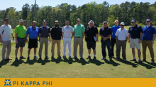 Great weather, turnout for 10th annual Pi Kappa Phi Golf Tournament