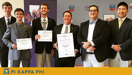 Pi Kappa Phi members receive 'Greek Man of the Year,' other honors from NSU