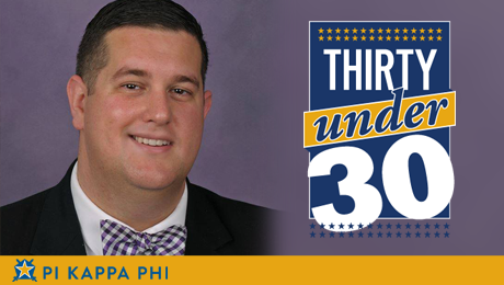 NSU alumnus selected for Pi Kappa Phi's 'Thirty Under 30' award