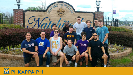 A clean sweep for Pi Kappa Phi's road cleanup
