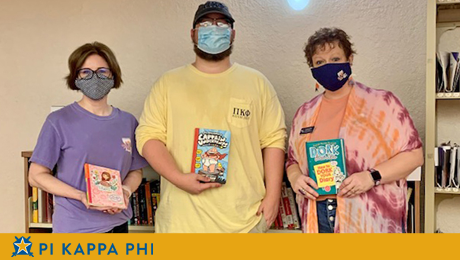 Pi Kappa Phi partners with NSU College of Education for childhood literacy project